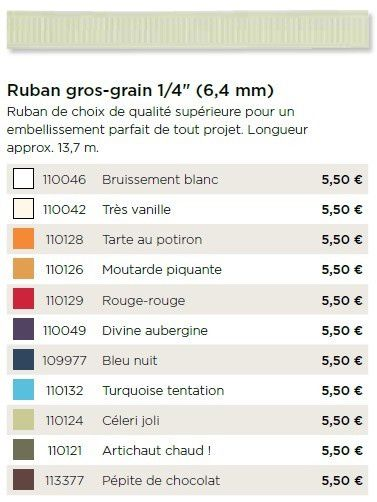 Ruban gros-grain 6.4mm