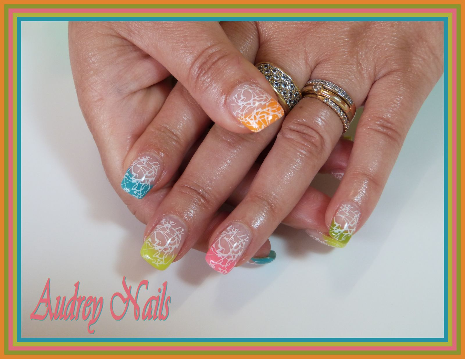 French multi-fluo + stamping grésille