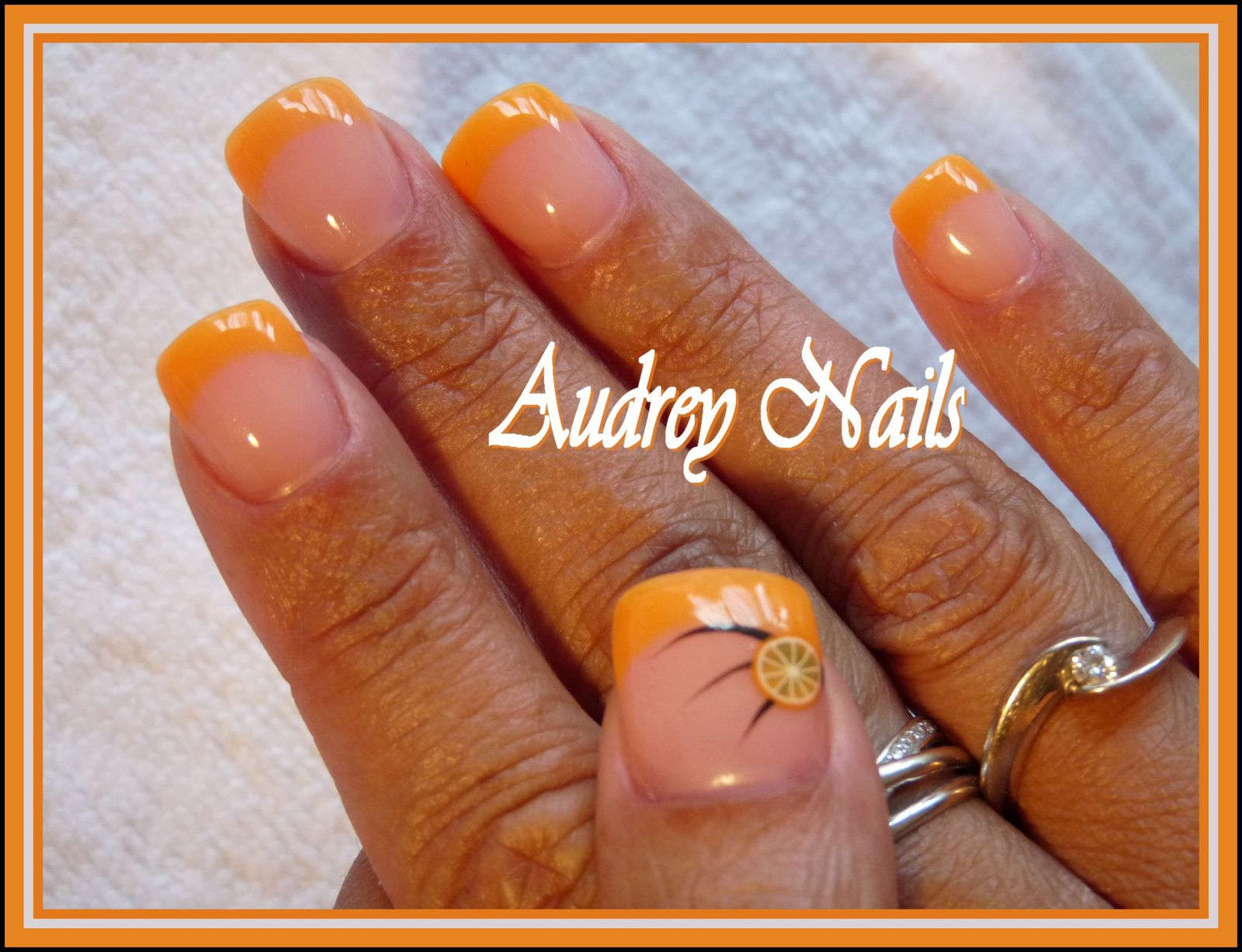 French orange fluo