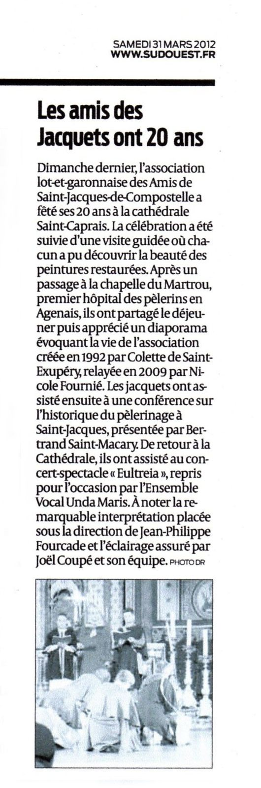 Article Sud-Ouest (31-03-2012)