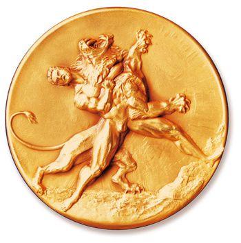Medaille Hercule doree