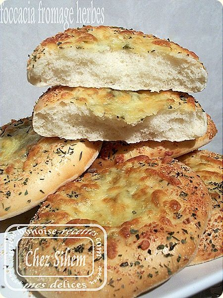 mini foccacia fromage herbes