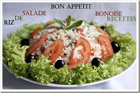 salade de riz thon legumes