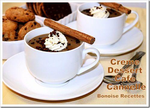creme dessert cafe chocolat