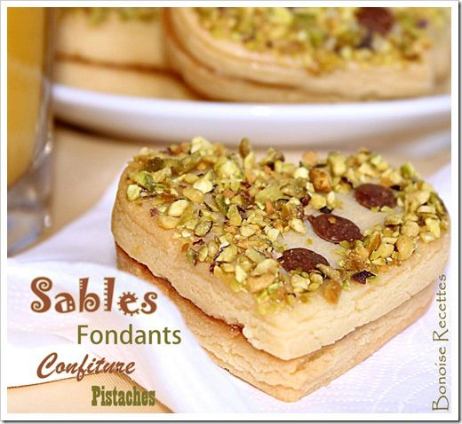 sables confiture pistaches