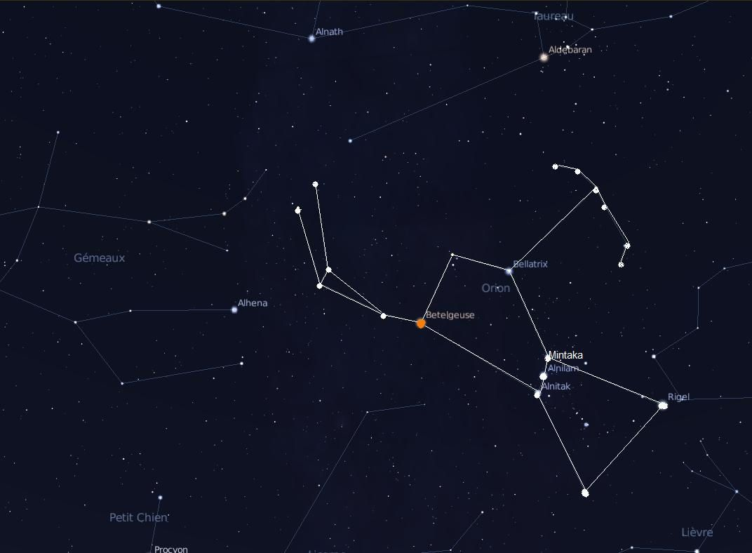 la constellation d orion