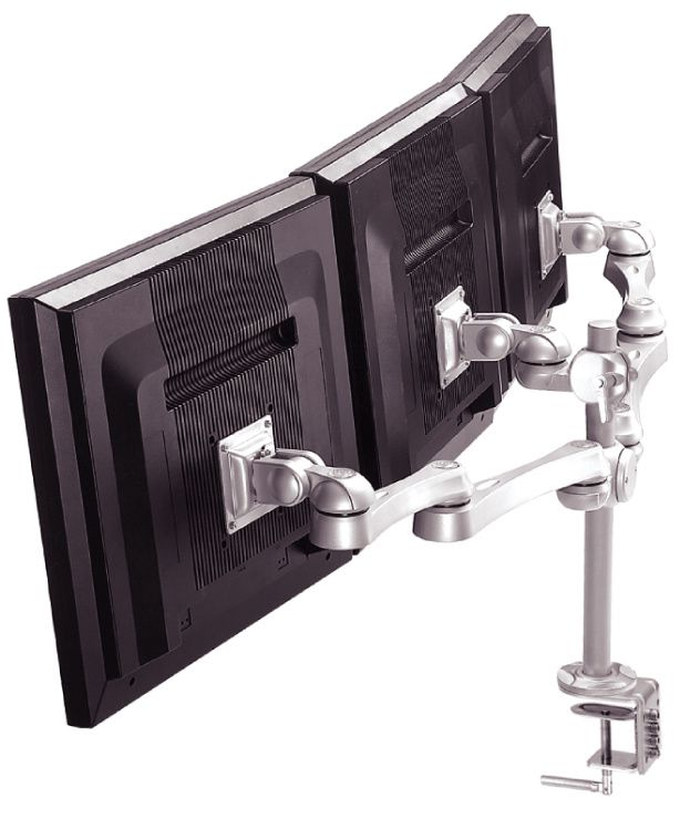 modernsolid la 516 1 r 233 f la 516 1 support ergonomique de bureau pour 3 moniteurs