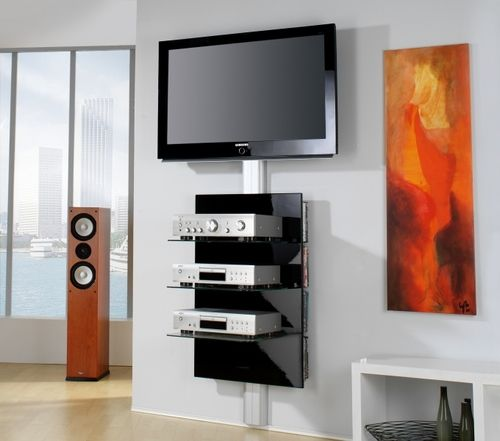 meuble tv fixer au mur maison design. Black Bedroom Furniture Sets. Home Design Ideas
