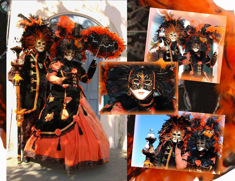 Images des masqués vénitiens de France à Martigues, septembre 2011