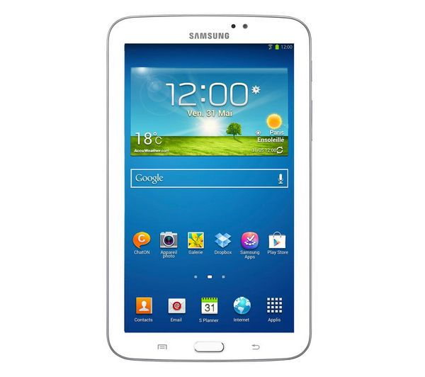 tablette samsung galaxy tab 3 tablette 7 8 go moins de 190 euros le blog bon plan. Black Bedroom Furniture Sets. Home Design Ideas