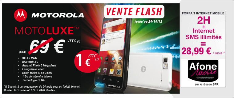 Vente flash motorola motoluxe le blog bon plan mobile - Discount vente flash ...