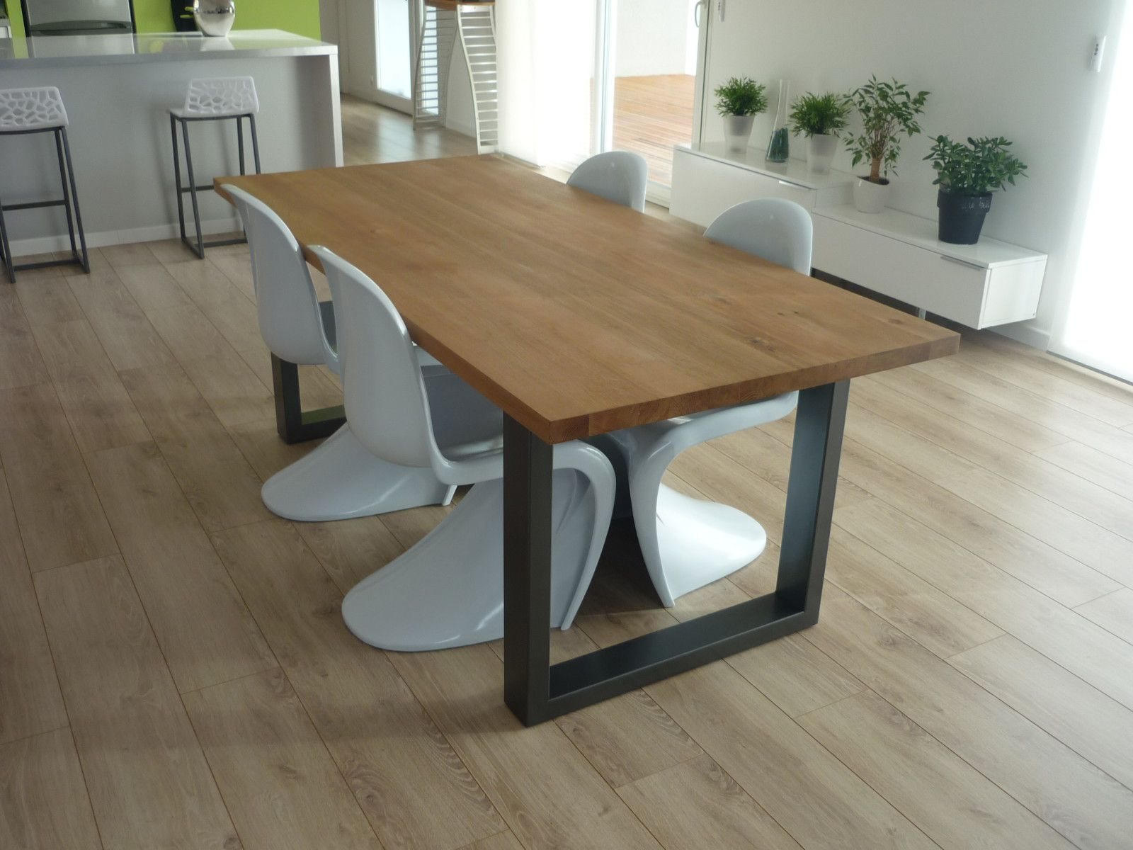 Album table de salle a manger menuiserie agencement design - Table haute 8 personnes ...