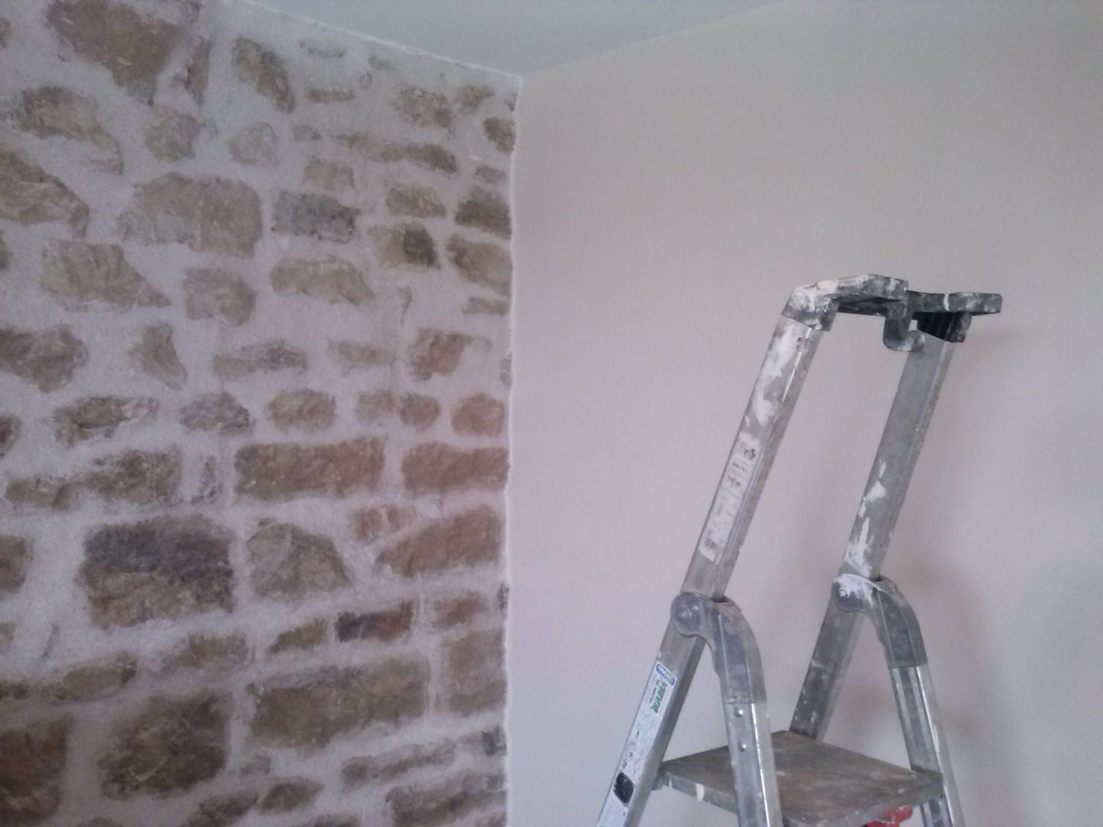 Peindre Un Mur En Pierre peinture du salon et de la cuisine - le blog de fred