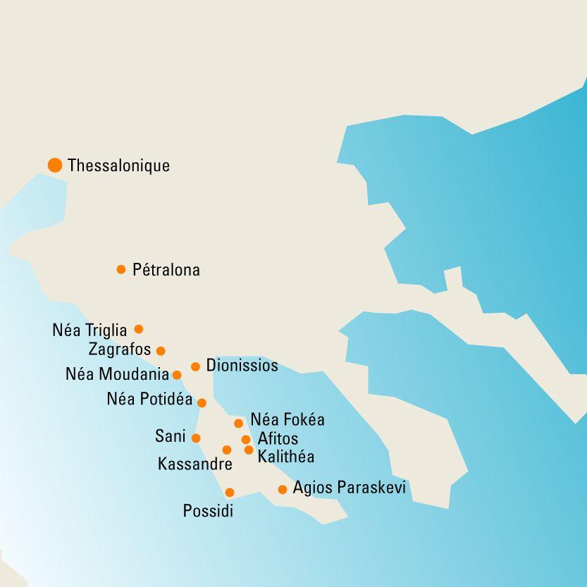 Presqu'île de Kassandra   LA CHALCIDIQUE