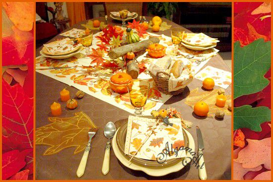 d coration de table for t d 39 automne le blog de marlyse