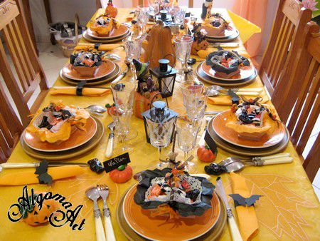 Table d 39 halloween 2011 le blog de marlyse for Decoration de table halloween