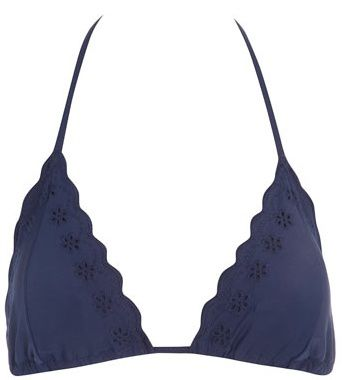 Navy cut out bikini top Dorothy P 9£