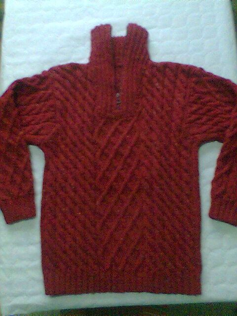 modele tricot pull camionneur
