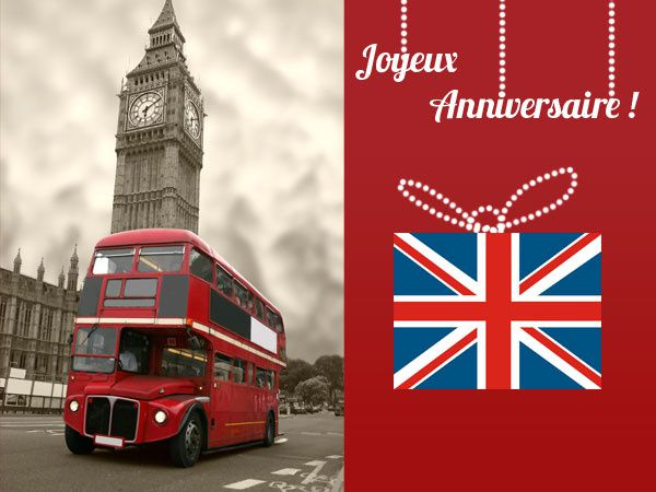 Carte anniversaire London bus