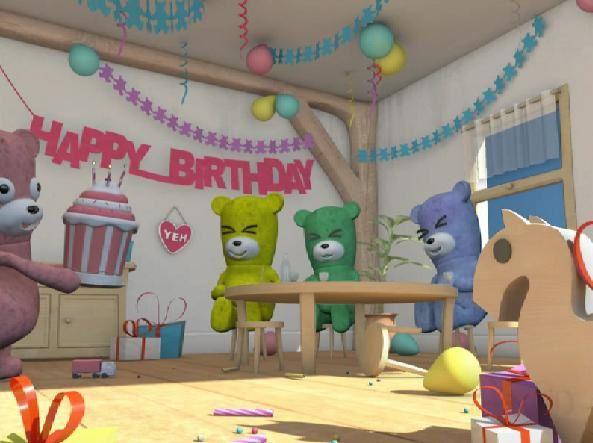 Carte anniversaire oursons