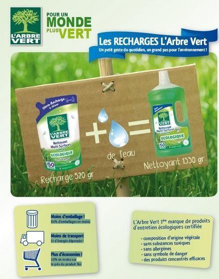 recharge souple arbre vert nettoyant multisurface
