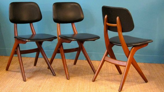 Chaises Scandinaves 60