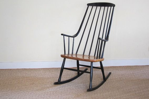 rocking chair scandinave 1950 tapiovaara coin canal. Black Bedroom Furniture Sets. Home Design Ideas