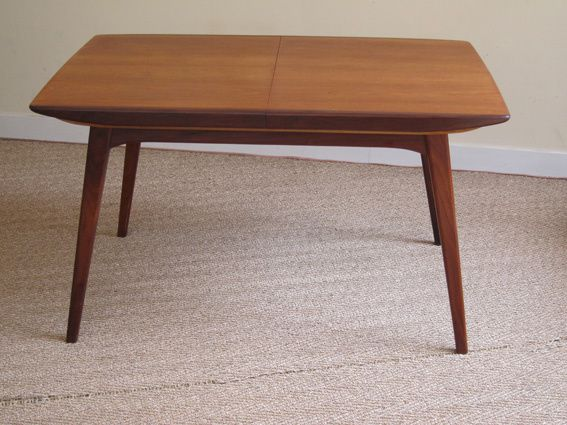 Table scandinave en teck 1950 coin canal for Table scandinave en teck