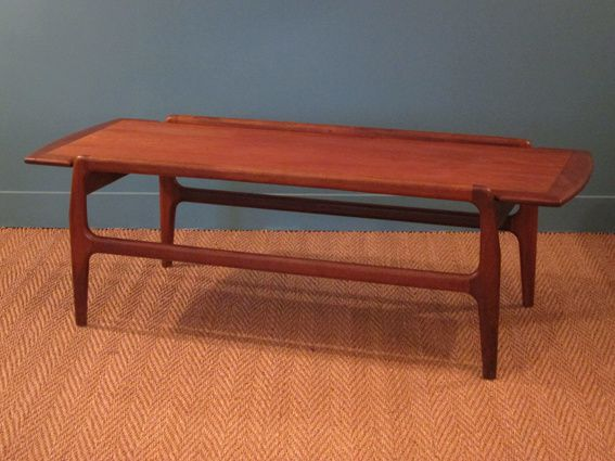 Table basse scandinave 1960 en teck coin canal for Table scandinave en teck
