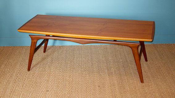 Table basse teck 1960 3