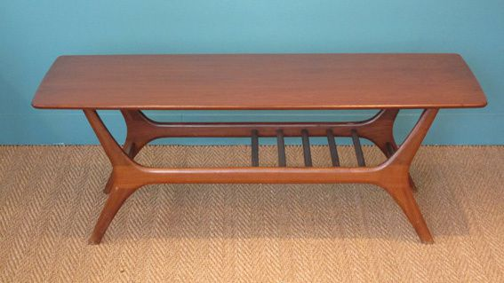 Table scandinave 1950 coin canal - Table basse scandinave annee 50 ...