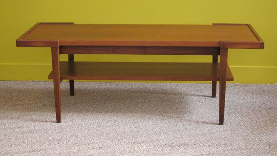 table basse teck 1960 réversible
