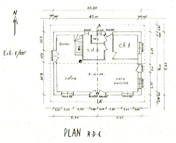 plan maison 7m de facade