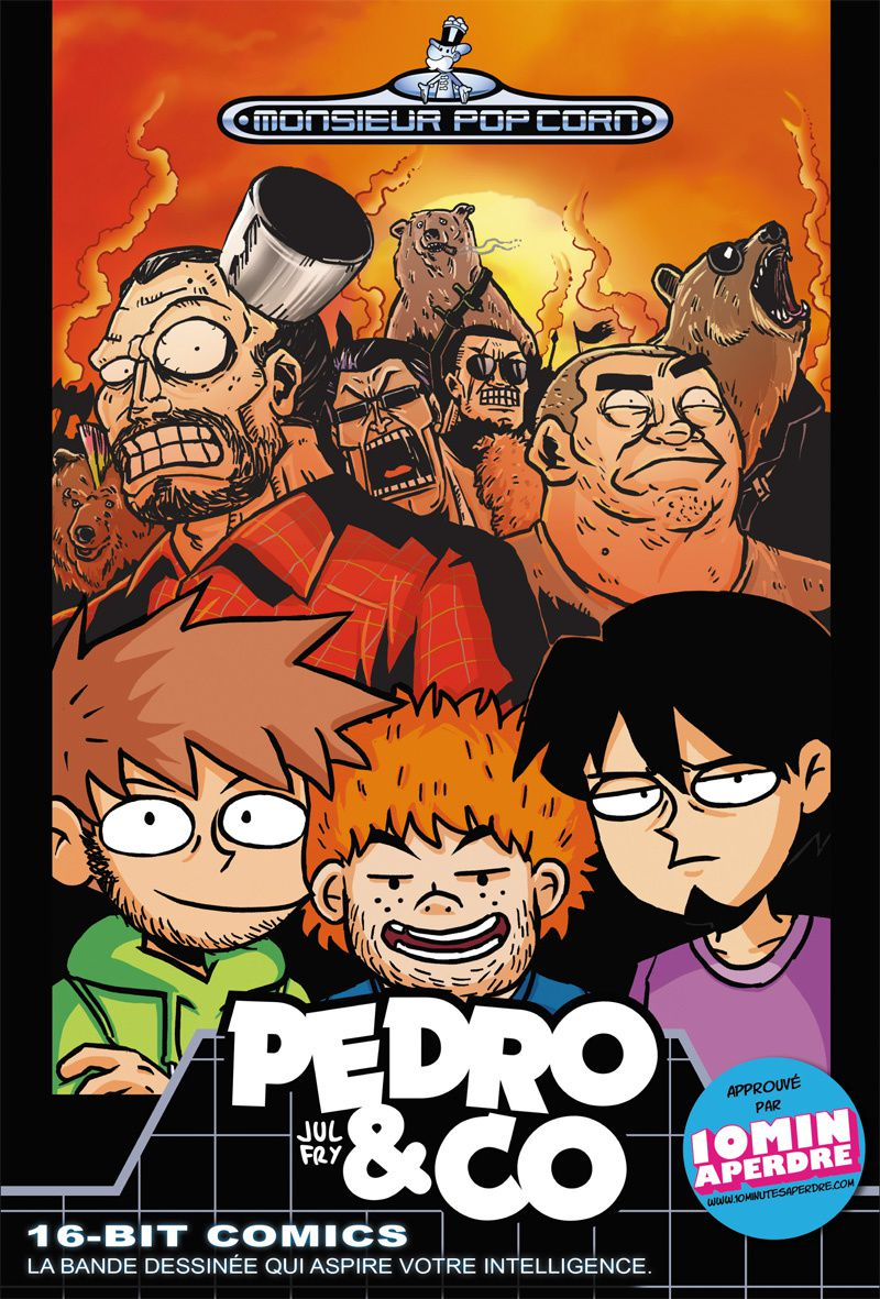Couverture avant PEDRO&amp;CO Jul et Fry Monsieur Pop Corn BD 1