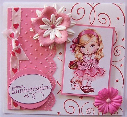3 cartes anniversaire enfants le blog de cathy. Black Bedroom Furniture Sets. Home Design Ideas