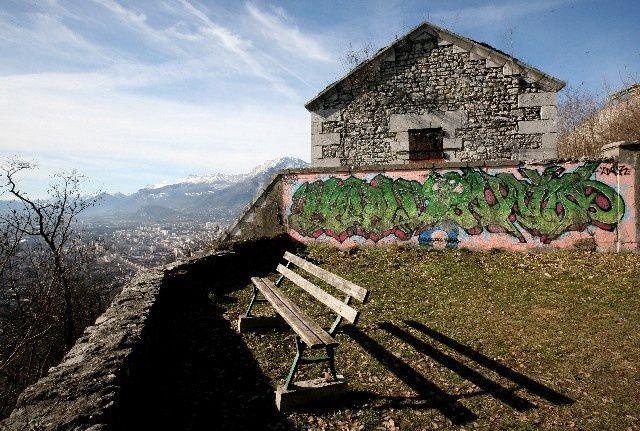 38 - Grenoble Bastille : Panorama depuis la poudrière