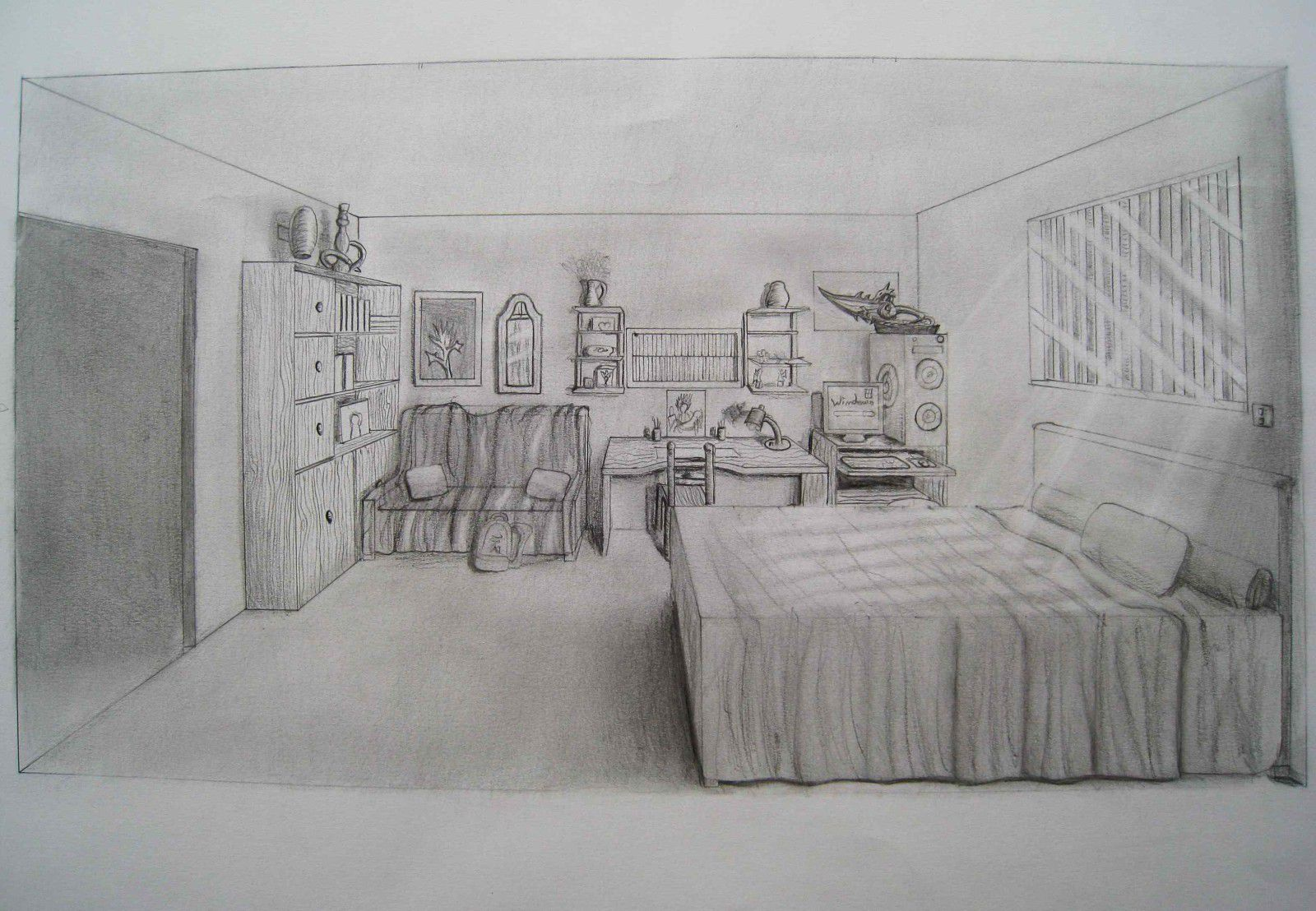 Dessin fourmis chambre perspective luis royo ii luis royo i scultpure l zard for Chambre en perspective lineaire