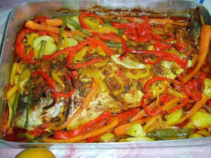 recettes poisson au four avec l u00e9gumes