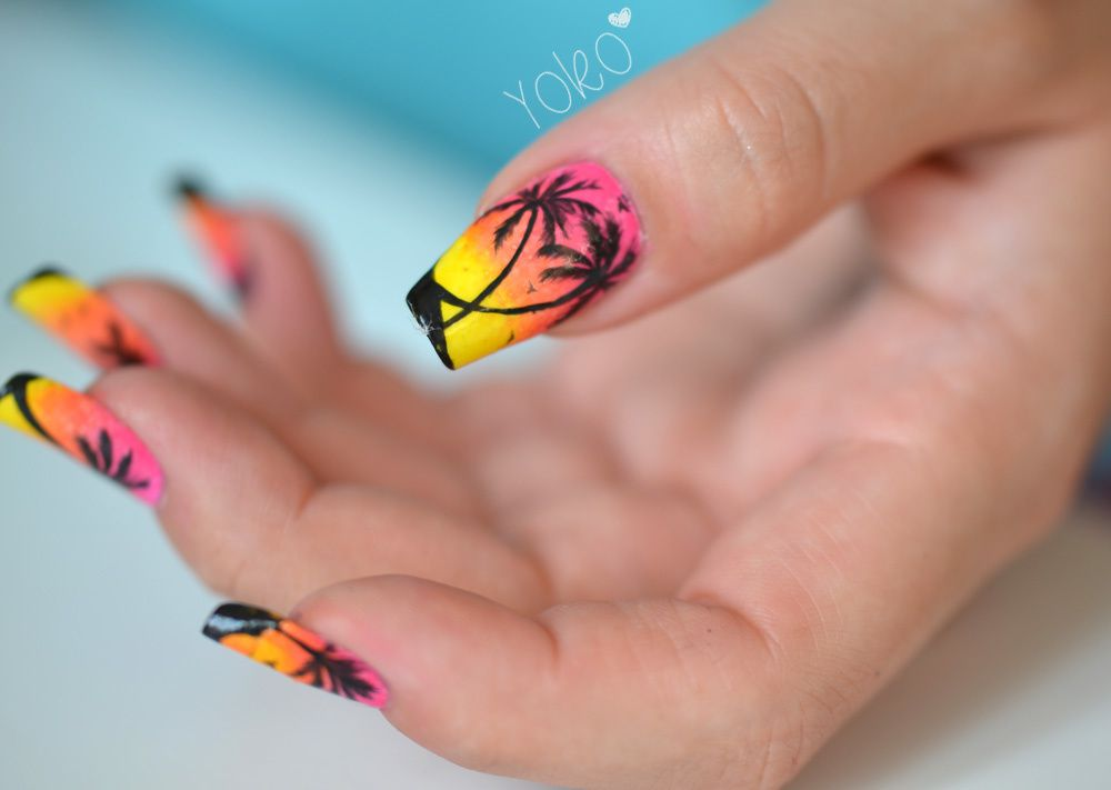 Nail Art Dtail Miami Beach Nail Art Le Blog De Yoko