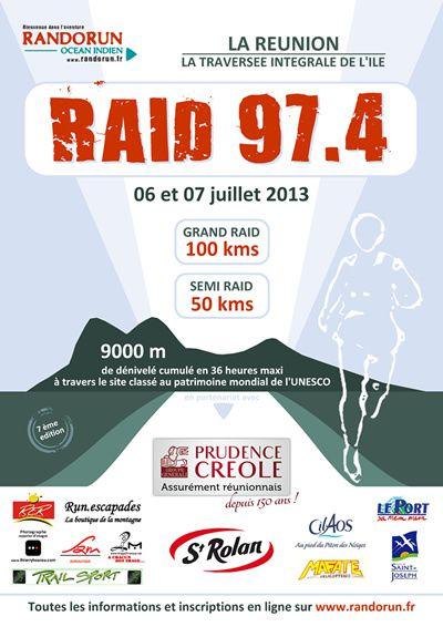 RAID 974 affiche 2013 base logos