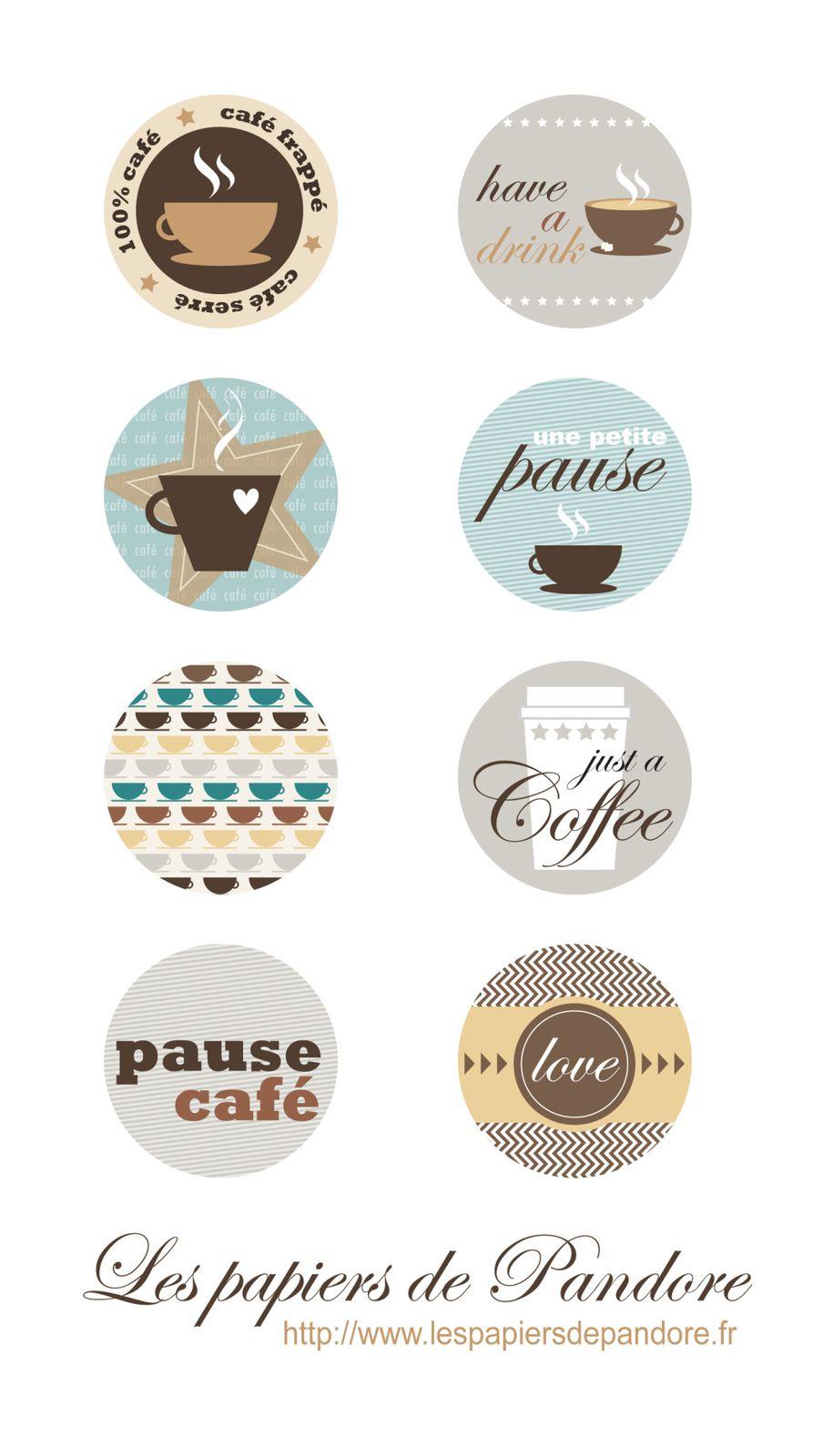 Etiquettes offertes Pause Cafe