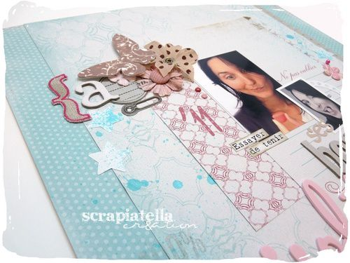 Page scrapbooking shabby fille