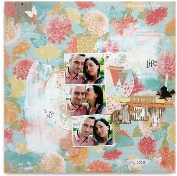 page scrapbooking Pandore