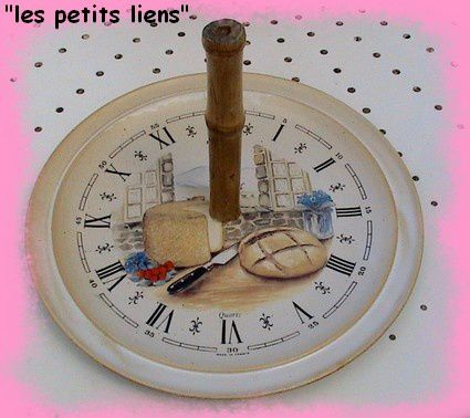 horloge plateau fromage