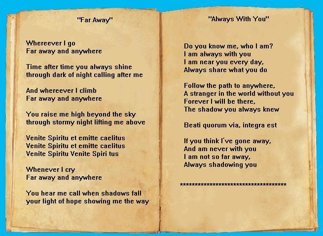 far away et always with you paroles
