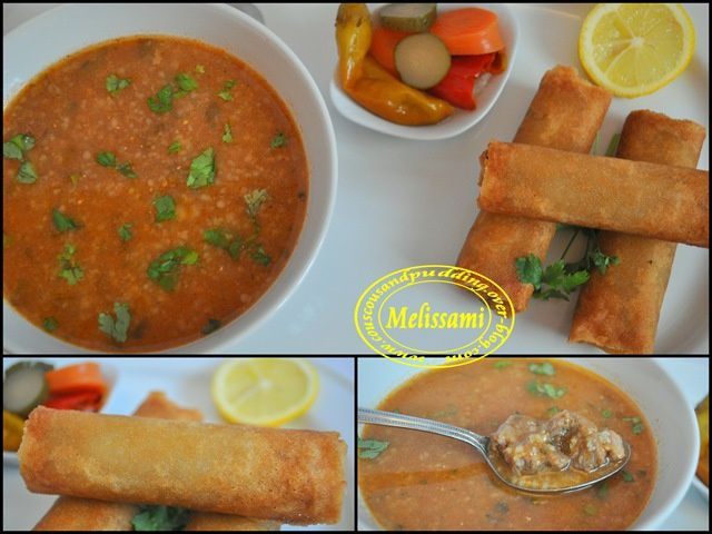 Green wheat soup chorba frik couscous and pudding for Algerian cuisine
