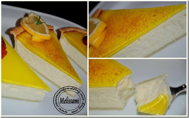 Baked lemon cheescake