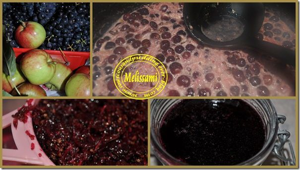 grapes and apples jam