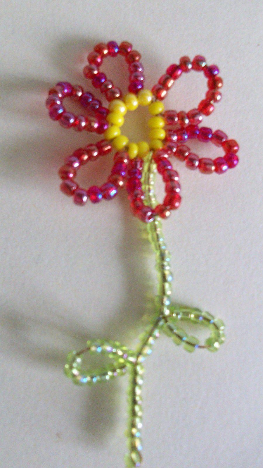 perle de rocaille fleur