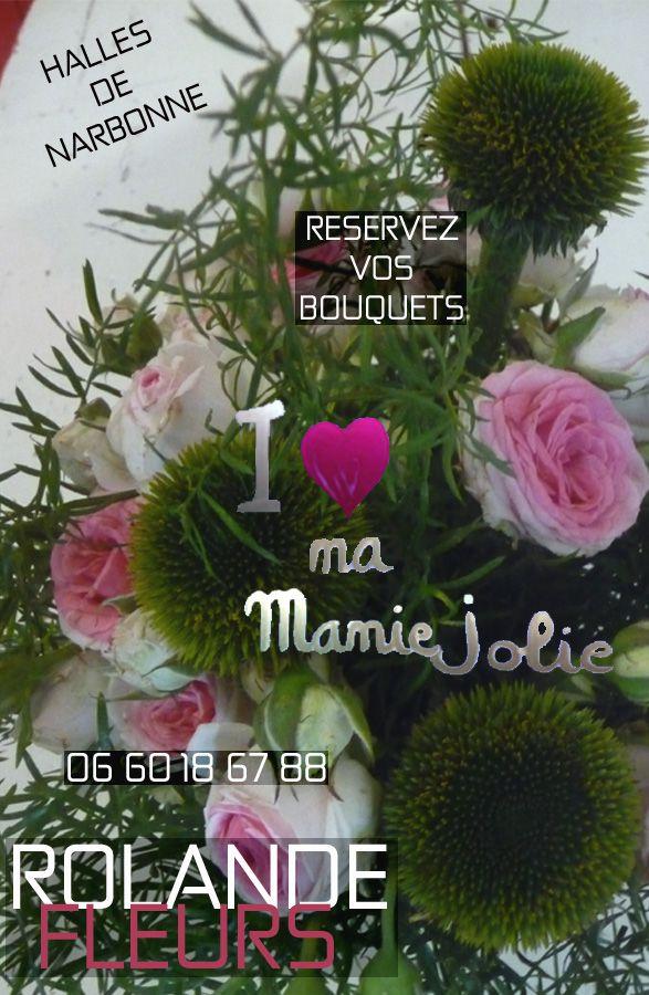 Bouquet de fleurs pour la Fête des Grands Mères et des mamies, Rolande fleuriste aux halles de Narbonne, idée cadeau, livraison.